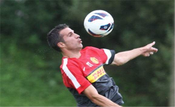 Robin van Persie- Manchester United training - Carrington