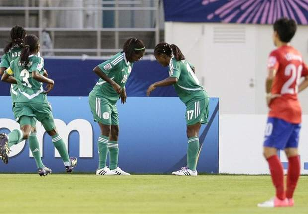 Falconets celebrating a goal at the last Fifa championship