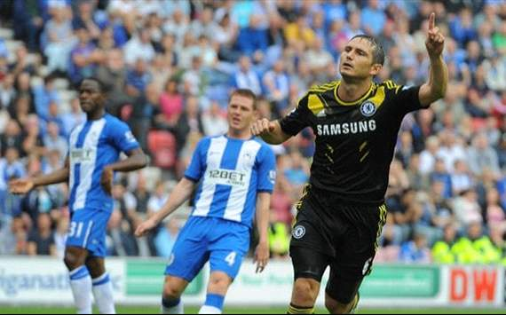 Lampard, Wigan Vs. Chelsea