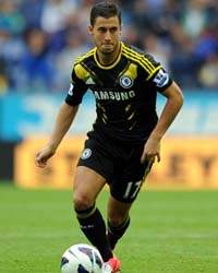 EPL; Eden Hazard, Wigan Athletic v Chelsea