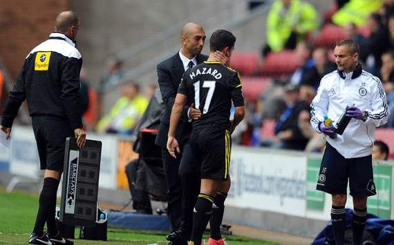 EPL: Eden Hazard - Roberto Di Matteo, Wigan Athletic v Chelsea