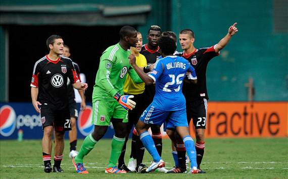 Sheanon Williams, Philadelphia Union; Bill Hamid, D.C. United; Mark Geiger, MLS