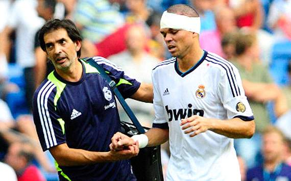Pepe lesionado