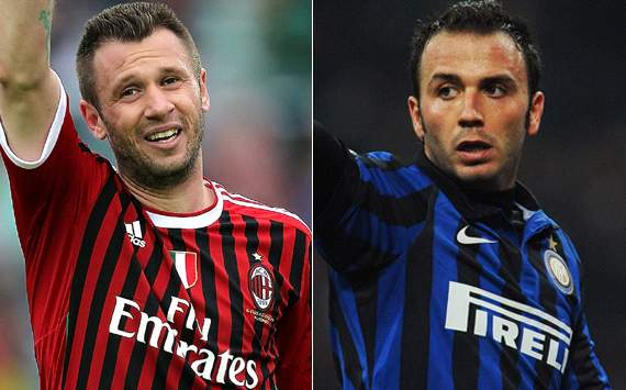 Official: Inter and AC Milan finalise Cassano-Pazzini swap