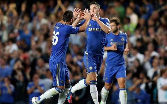 EPL, Chelsea v Reading, Gary Cahill, John Terry