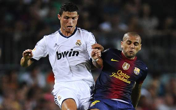 Cristiano Ronaldo, Dani Alves - FC Barcelona v Real Madrid