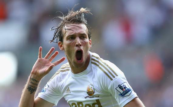 EPL-Swansea City v West Ham United,  Michu
