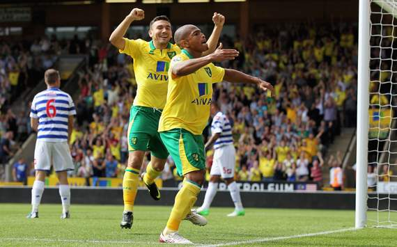 EPL, Norwich City v QPR, Simeon Jackson