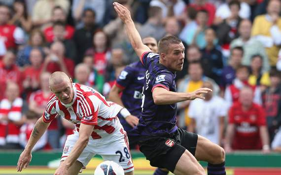 EPL,Lukas Podolski,Andy Wilkinson,Stoke City v Arsenal