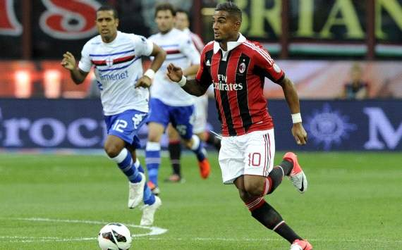 Kevin Prince Boateng in AC Milan-Sampdora