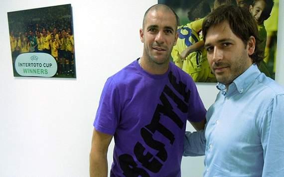 Walter Pandiani, con Fernando Roig Jr. - Villarreal