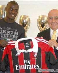 M'Baye Niang and Adriano Galliani - Ac Milan
