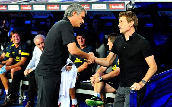Real Madrid vs Barcelona - Jose Mourinho and Tito Vilanova