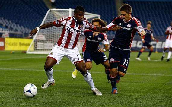 Miller Bolanos, Kelyn Rowe; Chivas USA - New England Revolution