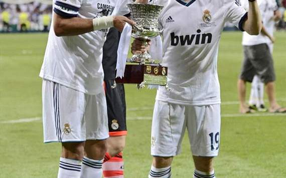 Pepe and Modric with Spanish supercup