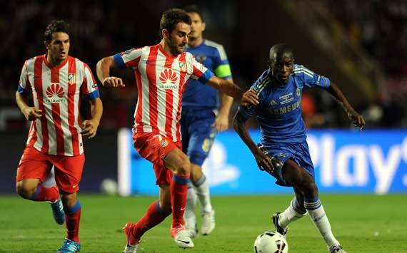 UEFA Super Cup - Chelsea v Atletico Madrid, Ramires and Adrian Lopez