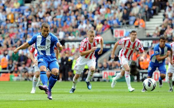 EPL - Wigan Athletic v Stoke City, Shaun Maloney