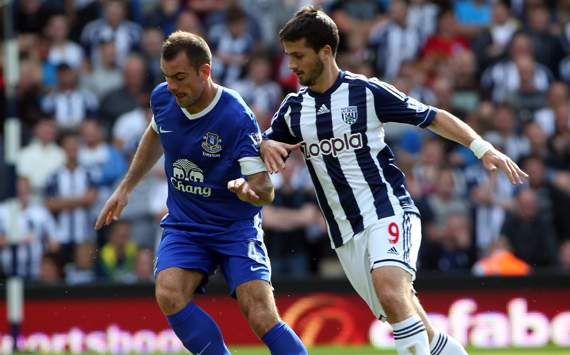 EPL, West Bromwich Albion v Everton, Darron Gibson, Shane Long 