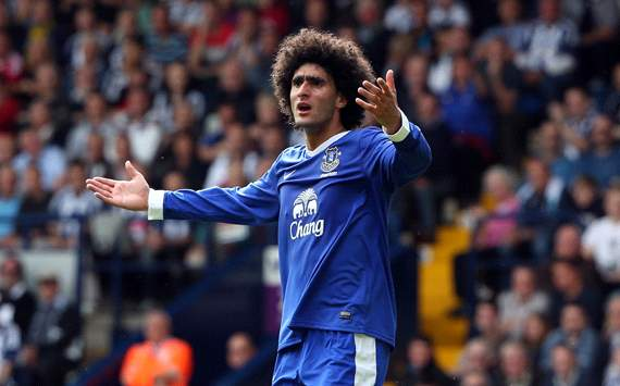 EPL: Marouane Fellaini, West Bromwich Albion v Everton