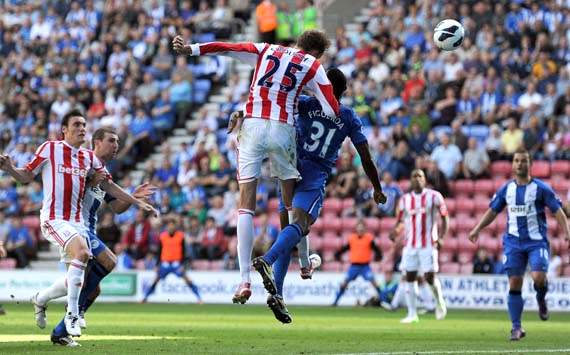 EPL; Peter Crouch, Wigan Athletic v Stoke City
