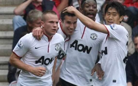 Kagawa,van persie,cleverly,Manchester united