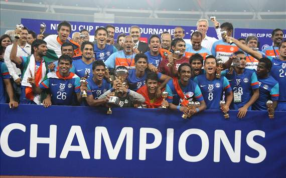 India make it a hat-trick of Nehru Cup titles