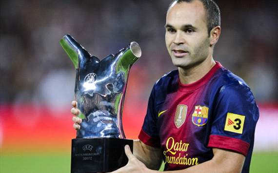 Iniesta: Uefa prize belongs to everyone in Barcelona