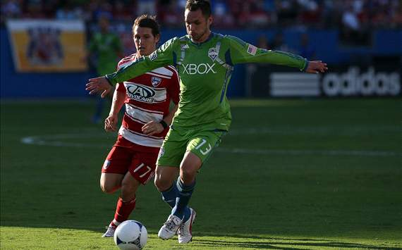 Christian Tiffert, Seattle Sounders FC; Zach Loyd, FC Dallas; MLS