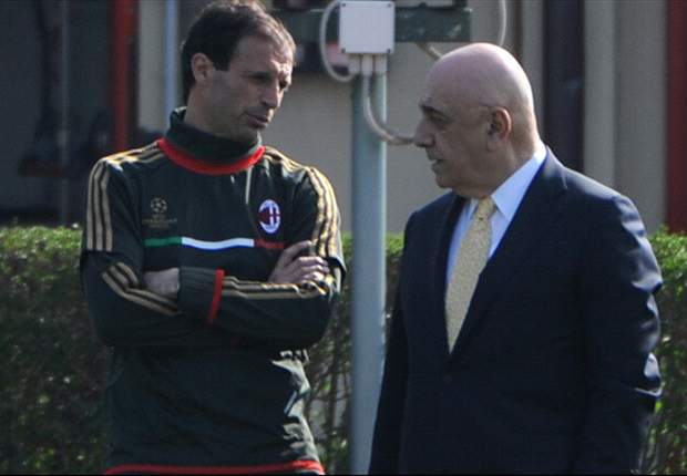 'Allegri must remain calm and focus on winning' - Galliani lends support to beleaguered Milan boss
