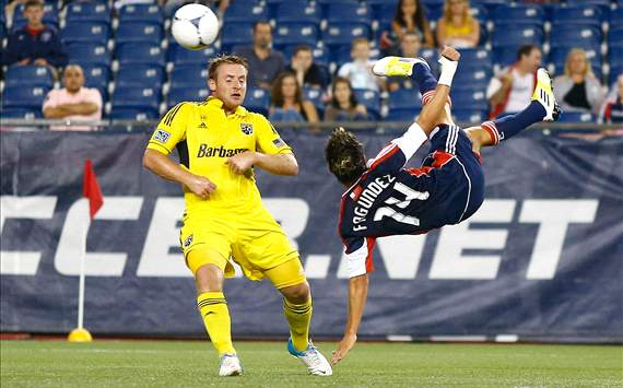 Chris Birchall, Columbus Crew; Diego Fagundez, New England Revolution; MLS
