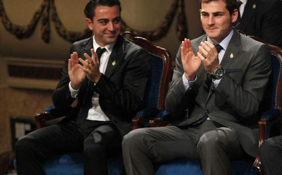 xavi hernandez- Iker Casillas -premio de principes de Asturias