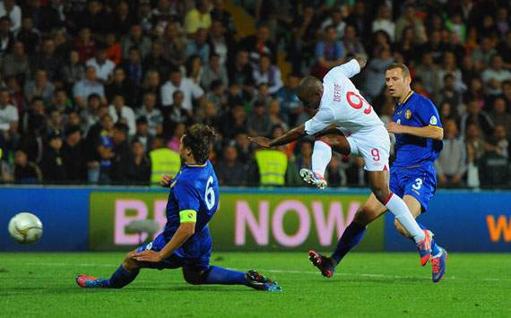  FIFA 2014 World Cup Qualifier -  	 Moldova v England , Jermain Defoe