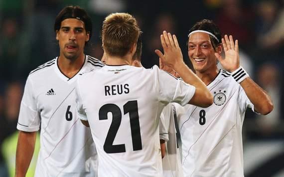 Germany: Sami Khedira, Marco Reus & Mesut Özil