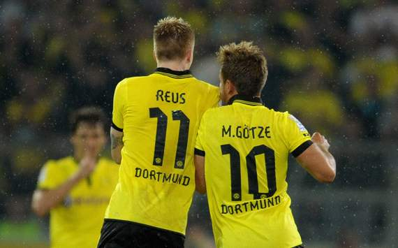 TEAM NEWS: Gotze starts as Reus drops to the Dortmund bench