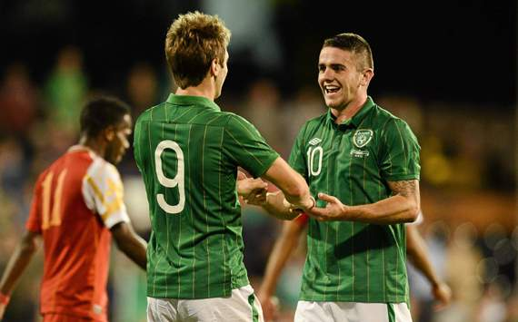 Kevin Doyle &amp; Robbie Brady's of  Republic of Ireland's