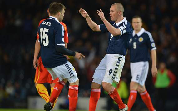 WCQ 14 - Scotland vs Macedonia, Kenny Miller & Jamie Mackie
