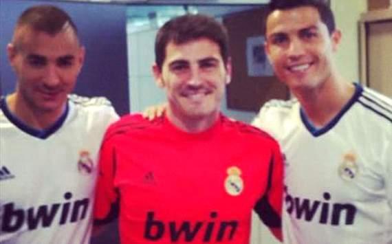 Karim Benzema, Iker Casillas, Cristiano Ronaldo,Real madrid