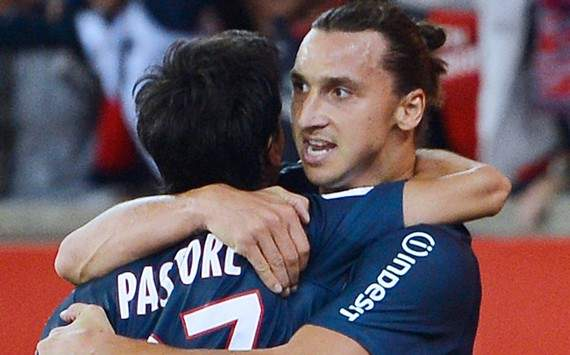 Ligue 1 : Zlatan Ibrahimovic &amp; Javier Pastore (Paris SG vs Toulouse FC)