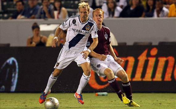Christian Wilhelmsson, LA Galaxy; Jeff Larentowicz, Colorado Rapids; MLS