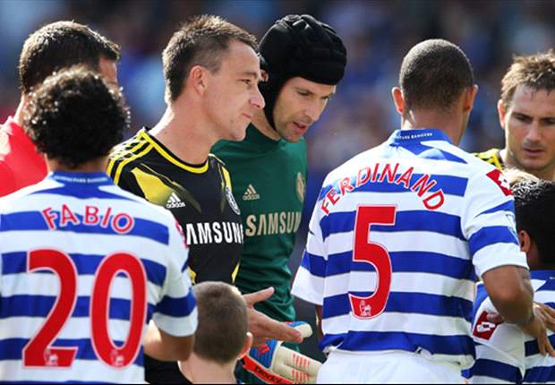 QPR defender Anton Ferdinand refuses Terry and Ashley Cole's handshake