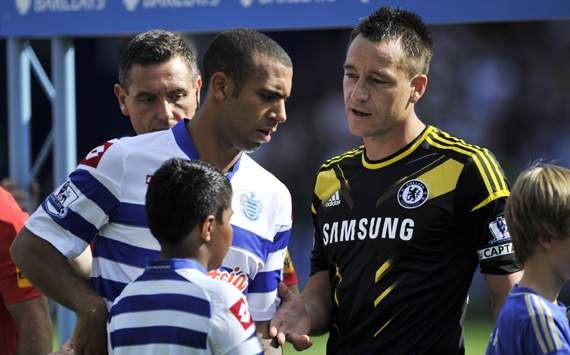 EPL - QPR vs Chelsea,John Terry &amp;  Anton Ferdinand
