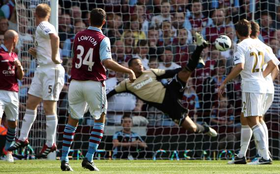 EPL - Aston Villa v Swansea City, Matthew Lowton