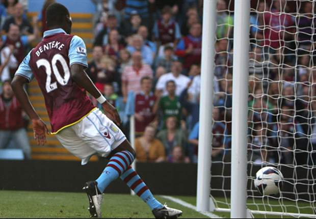 Aston Villa boss Lambert 'disappointed' at two-goal Benteke's performance in Capital One Cup