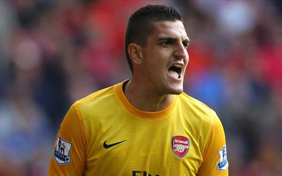 Mannone enjoying 'best time' at Arsenal