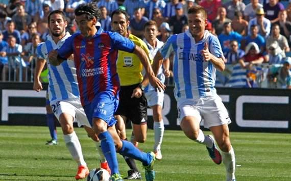 Pedro Ríos, Ignacio Camacho, Portillo - Málaga v Levante