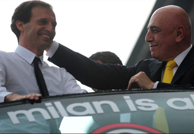 Galliani gives Allegri a vote of confidence ahead of Malaga clash