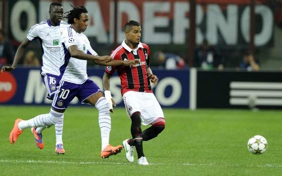 Kevin Prince Boateng and Kanu - Ac Milan-Anderlecht