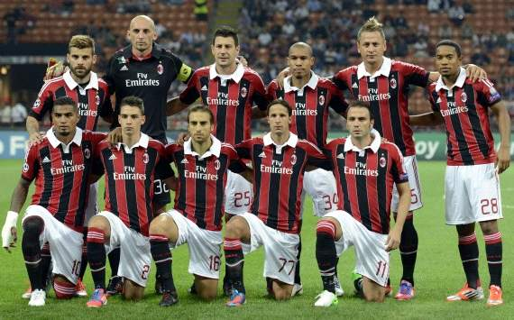 Ac Milan starting line-up
