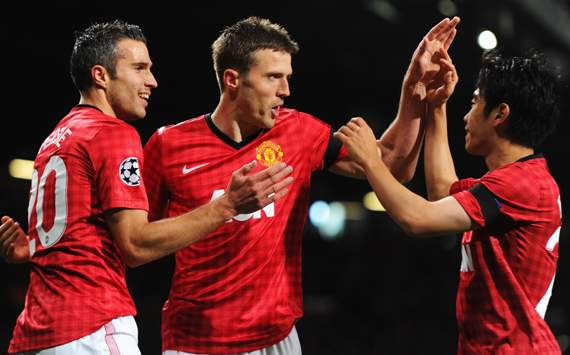 Robin van Persie, Shinji Kagawa &amp; Michael Carrick