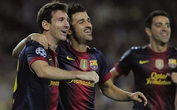 Lionel Messi, David Villa, Barcelona, Spartak